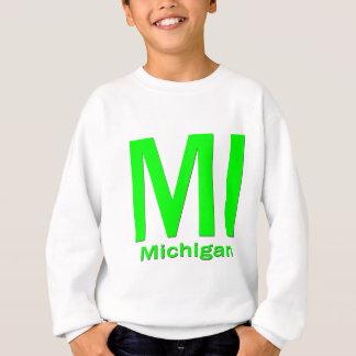 Verde llano del MI Michigan Sudadera