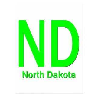 Verde llano del ND Dakota del Norte Postales