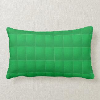 Verde llano del rojo n: Añada su foto o texto Cojín