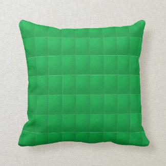 Verde llano del rojo n: Añada su foto o texto Almohadas