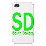 Verde llano del SD Dakota del Sur iPhone 4 Protector