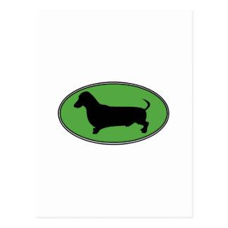 Verde-Llano oval del Dachshund Postal