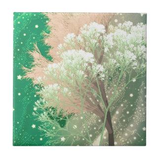 verde loco de los árboles tejas  cerámicas