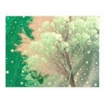 verde loco de los árboles postal