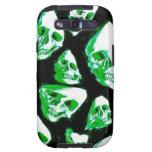 verde loco de los cráneos galaxy s3 protector