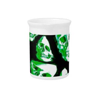 verde loco de los cráneos jarras