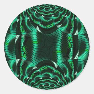 verde loco de los efectos pegatina redonda