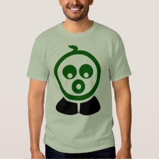 Verde loco del carácter de las camisetas de las remera