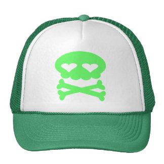 Verde loco del cráneo de la burbuja de Kawaii Gorro