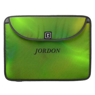 Verde luminoso funda macbook pro