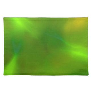 Verde luminoso manteles individuales