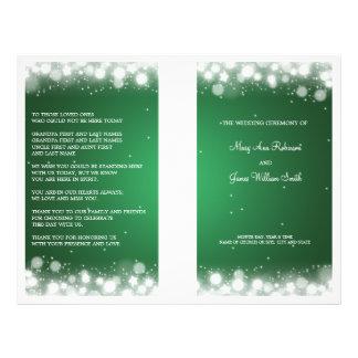 """Verde mágico de la chispa del programa elegante folleto 8.5"""" x 11"""""""
