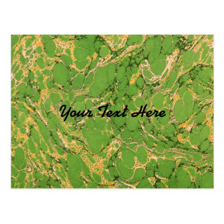 Verde Marbleized Postales