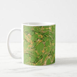 Verde Marbleized Taza De Café