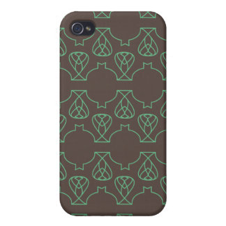 Verde marrón de Avante Garde iPhone 4 Carcasas