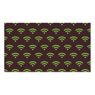 Verde marrón de WiFi Tarjetas De Visita
