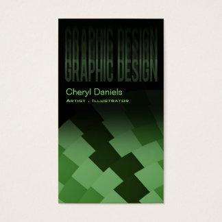Verde menta artística de moda moderna del tarjetas de visita