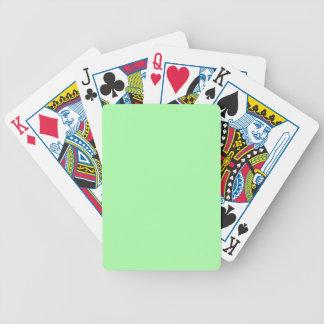 Verde menta barajas de cartas