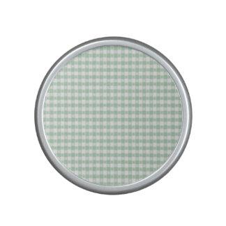 verde menta, blanco, guinga, floral, moda del altavoz