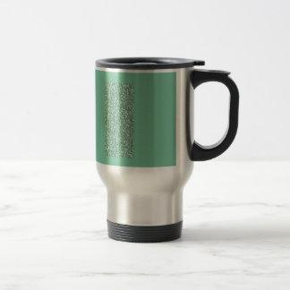Verde menta con falso brillo taza de viaje