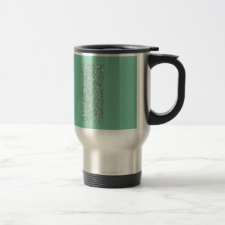 Verde menta con falso brillo taza de viaje de acero inoxidable