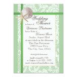 Verde menta de la ducha del boda del tema del invitación 12,7 x 17,8 cm