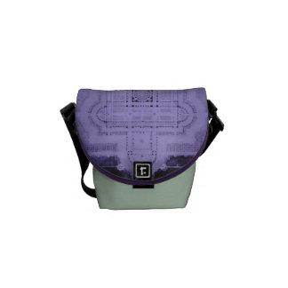 Verde menta de la púrpura del modelo de la catedra bolsas de mensajeria