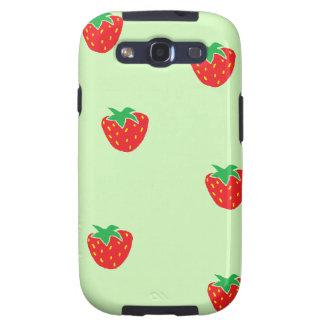 Verde menta de las fresas galaxy SIII coberturas