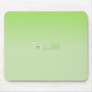 Verde menta de Linux Alfombrillas De Raton