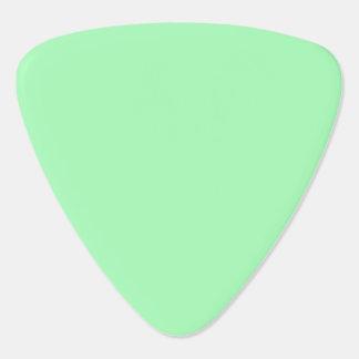 Verde menta del color sólido plectro