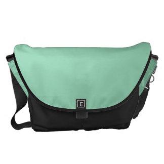 Verde menta grande bolsas de mensajeria