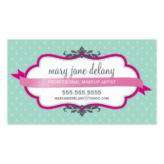 Verde menta intrépida elegante del rosa del tarjeta de negocio