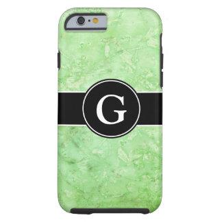 Verde menta mezclada con monograma funda de iPhone 6 tough