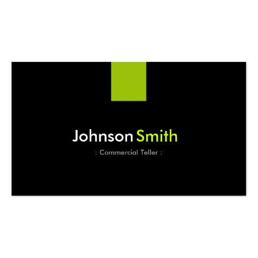 Verde menta moderna de la caja comercial tarjetas de negocios