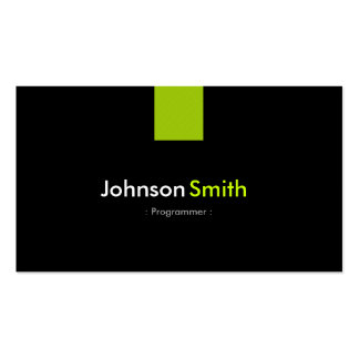 Verde menta moderna del programador tarjetas de visita