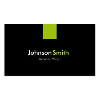 Verde menta moderna del trabajador del diamante tarjetas de visita