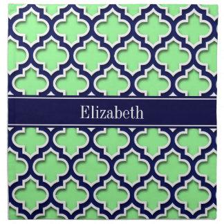 Verde menta, monograma marroquí del nombre de la servilletas