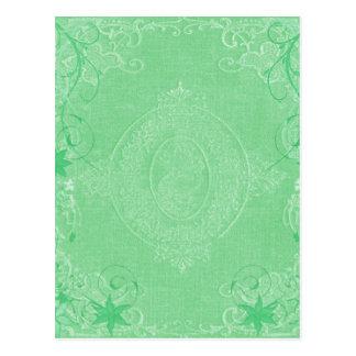 Verde menta pálida del vintage, estilo antiguo de postales