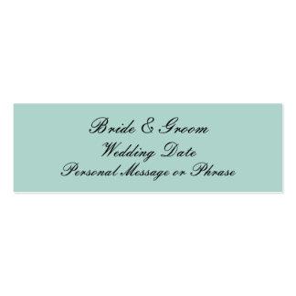 Verde menta personalizada casando la plantilla de  tarjetas de visita mini