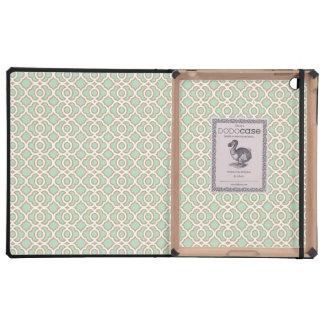 Verde menta y marroquí del oro iPad fundas