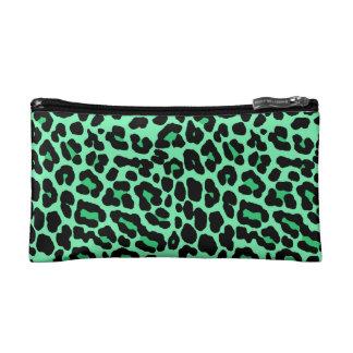 Verde menta y modelo del estampado leopardo del