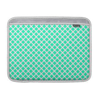 Verde menta y modelo inclinado blanco de los fundas macbook air