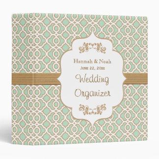 Verde menta y planificador marroquí del boda del o