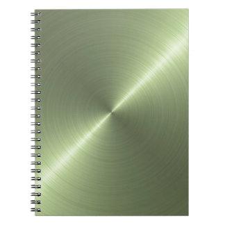Verde metálico spiral notebook