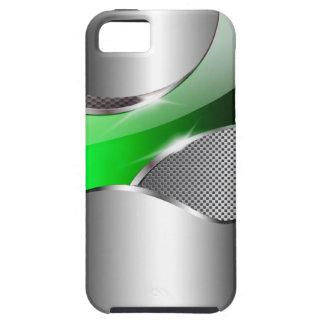 Verde metálico de la redada de la malla del cromo funda para iPhone SE/5/5s
