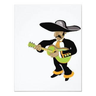 verde mexicano del jugador del uke invitaciones personalizada