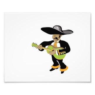 verde mexicano del jugador del uke impresion fotografica