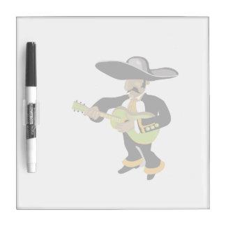 verde mexicano del jugador del uke tableros blancos