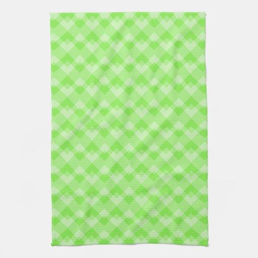 Verde modelado toalla de mano