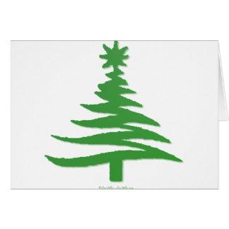 Verde moderno de la impresión de la plantilla del  tarjeta de felicitación